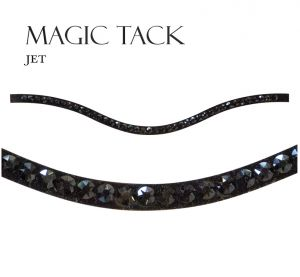 Naczółek Stubben Magic Tack Inlay One Row: Jet